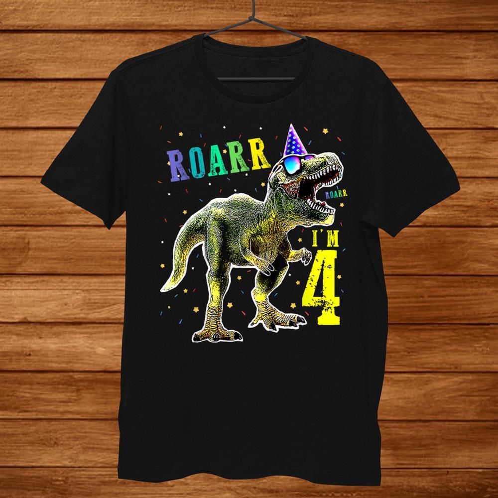 Kids Roar Im Dinosaur T Rex Birthday Shirt