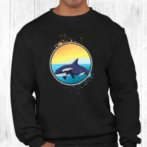 killer whale orcas ocean gift long sleeve shirt 2