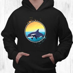 killer whale orcas ocean gift long sleeve shirt 3