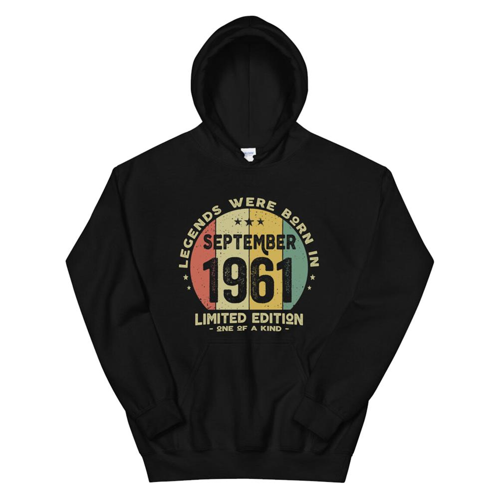 Legends Were Born In September961 Classic0th Birthday Hoodie