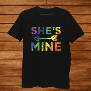 Lesbian Couple Shirts Shes Mine Matching Lgbt Pride Shirt