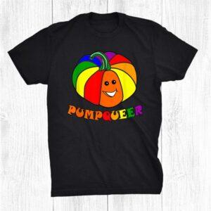 Lgbtq Pride Pumpqueer Pumpkin Shirt