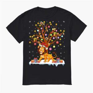 Lion Lighting Xmas Tree Gift Lion Christmas Tree Shirt