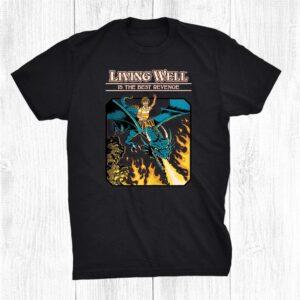 Living Well Is The Best Revenge Kid Dragon Fun Shirt