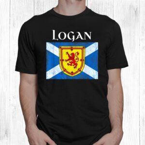 logan clan scottish name scotland flag shirt 1