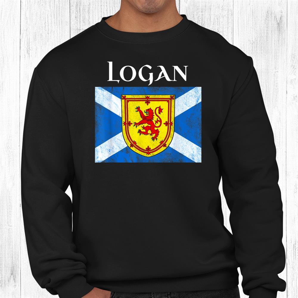 Logan Clan Scottish Name Scotland Flag Shirt
