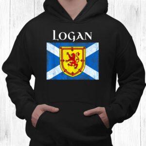 logan clan scottish name scotland flag shirt 3