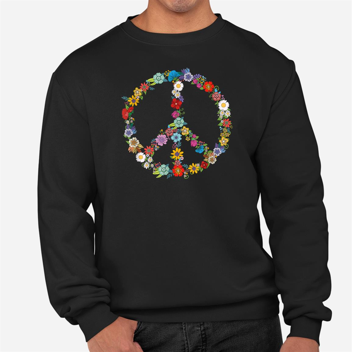 Love And Peace Flower Hippie Lover Beautiful Cute Funny Giftt Shirt