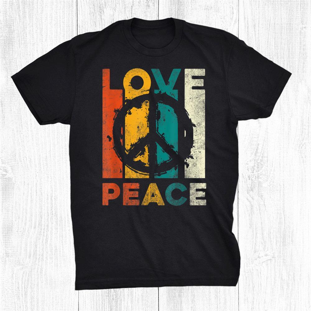 Love Peace Freedom Shirt 60s 70s Tie Dye Hippie Shirt Tee