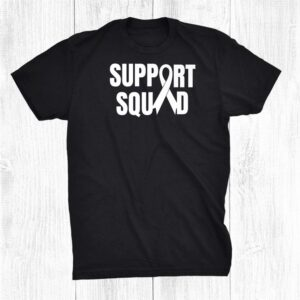 Lung Cancer Support Squad Family Awareness Ribbon Unisex Shirt