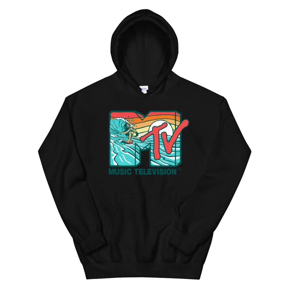 Mademark X Mtv Mtv Catch A Wave Mtv Surfer Logo Retro Graphic Hoodie