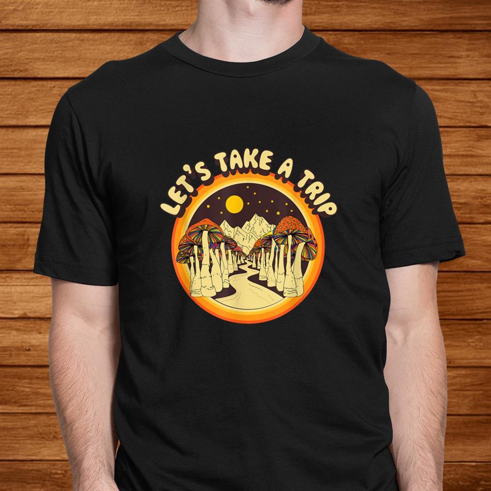 Magic Mushroom Trippy Hippie Shirt