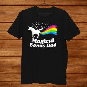 Magical Bonus Dad Unicorn Farting Rainbow Shirt Funny Shirt