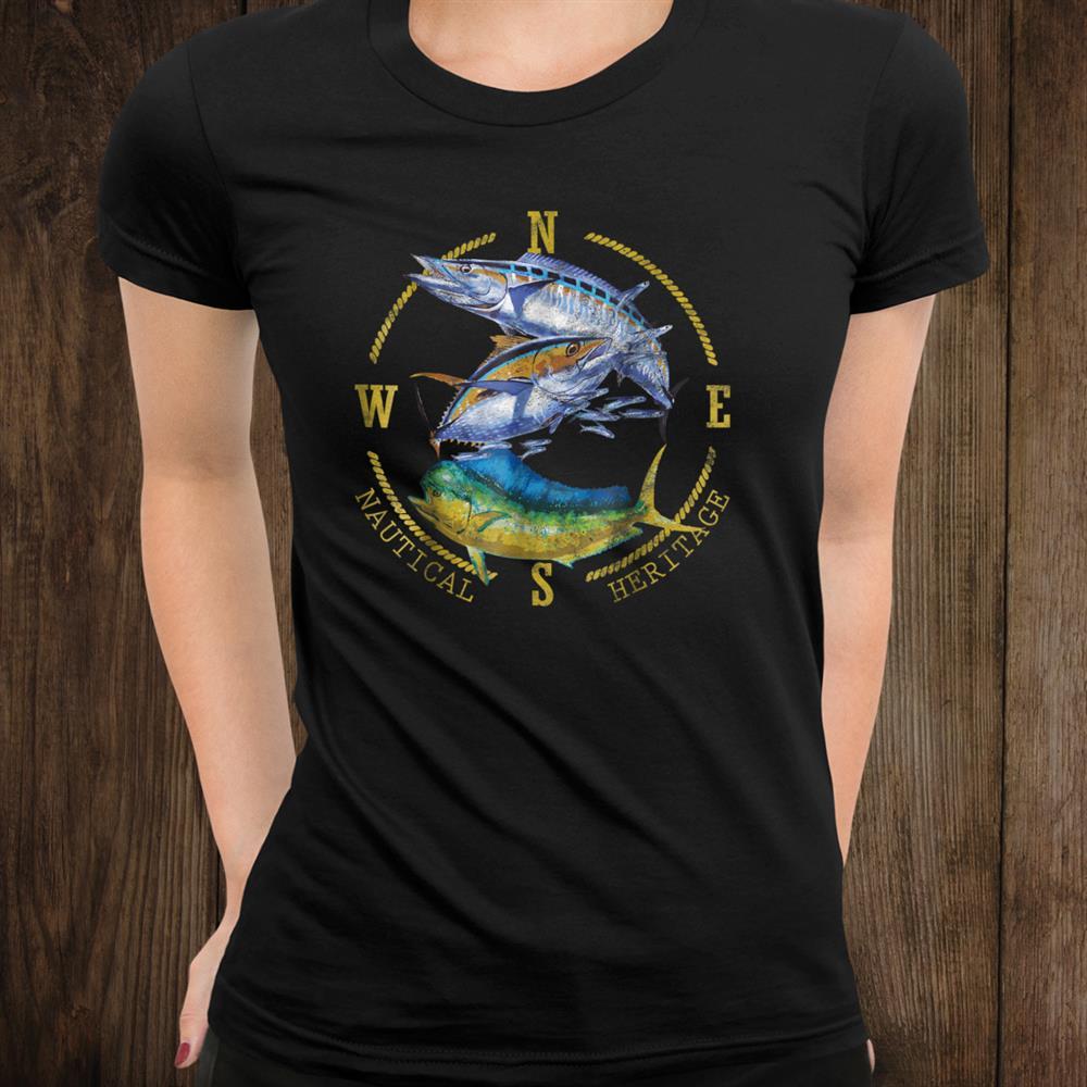 Mahi Mahi Tuna Kingfish Nautical Fishing And & Designt Shirt