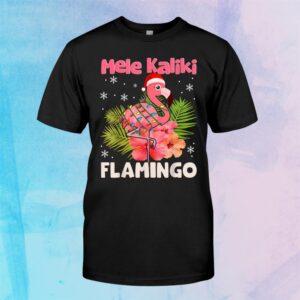 Mele Kaliki Flamingo Christmas Mele Kalikimaka Flamingo Shirt