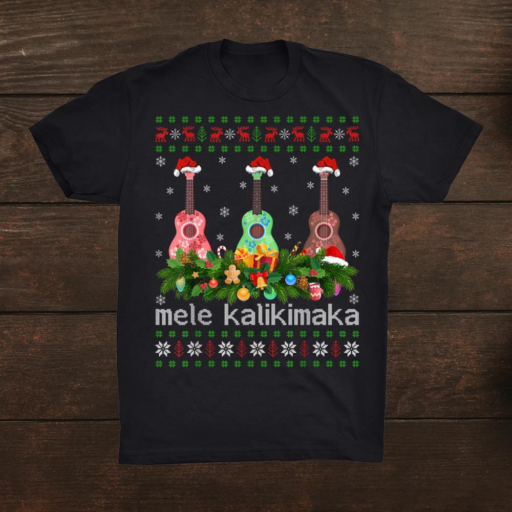 Mele Kalikimaka Ukulele Guitar Ugly Ukulele Christmas Shirt