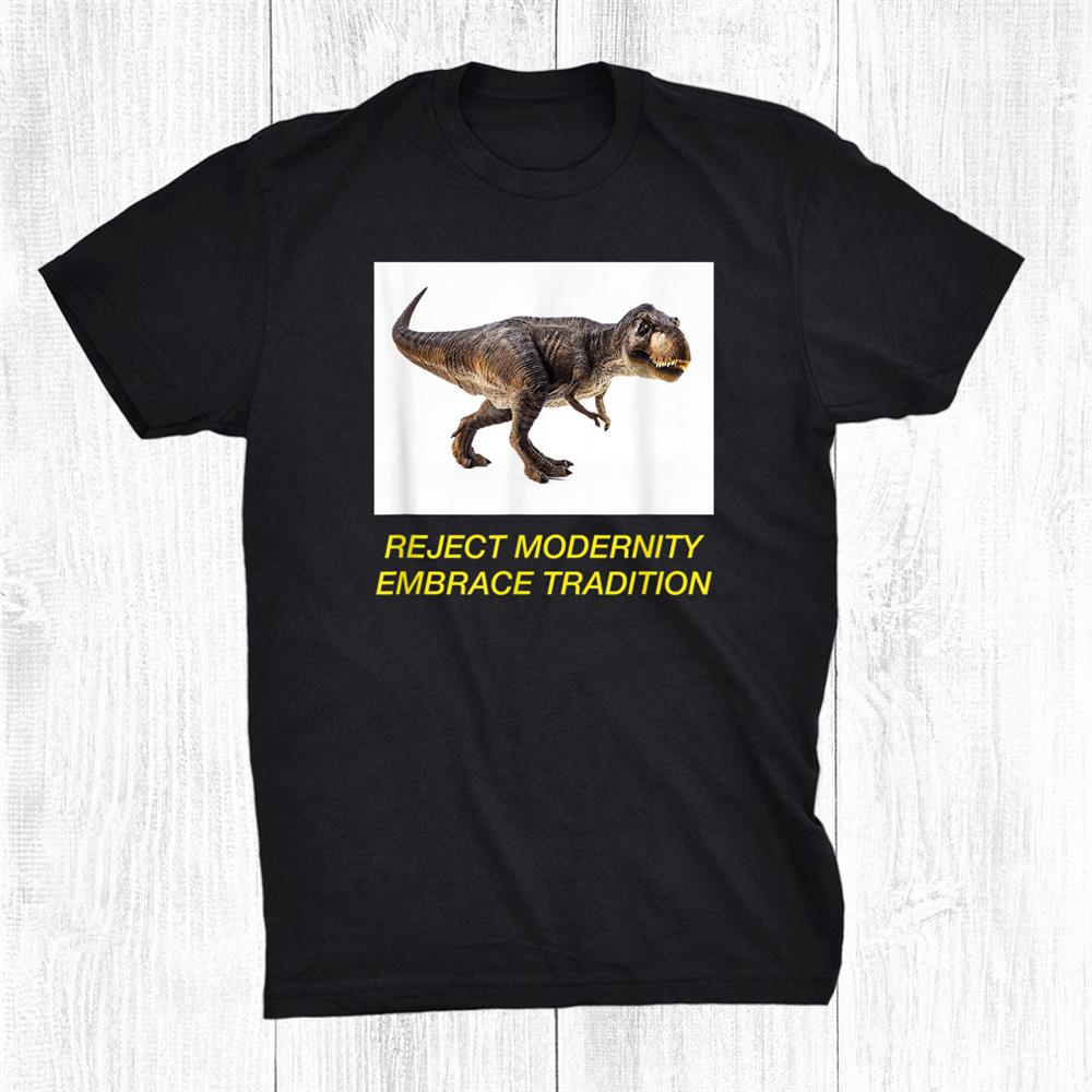 Meme Dinosaur Punk Goth T Rex Joke Surreal Funny Shirt