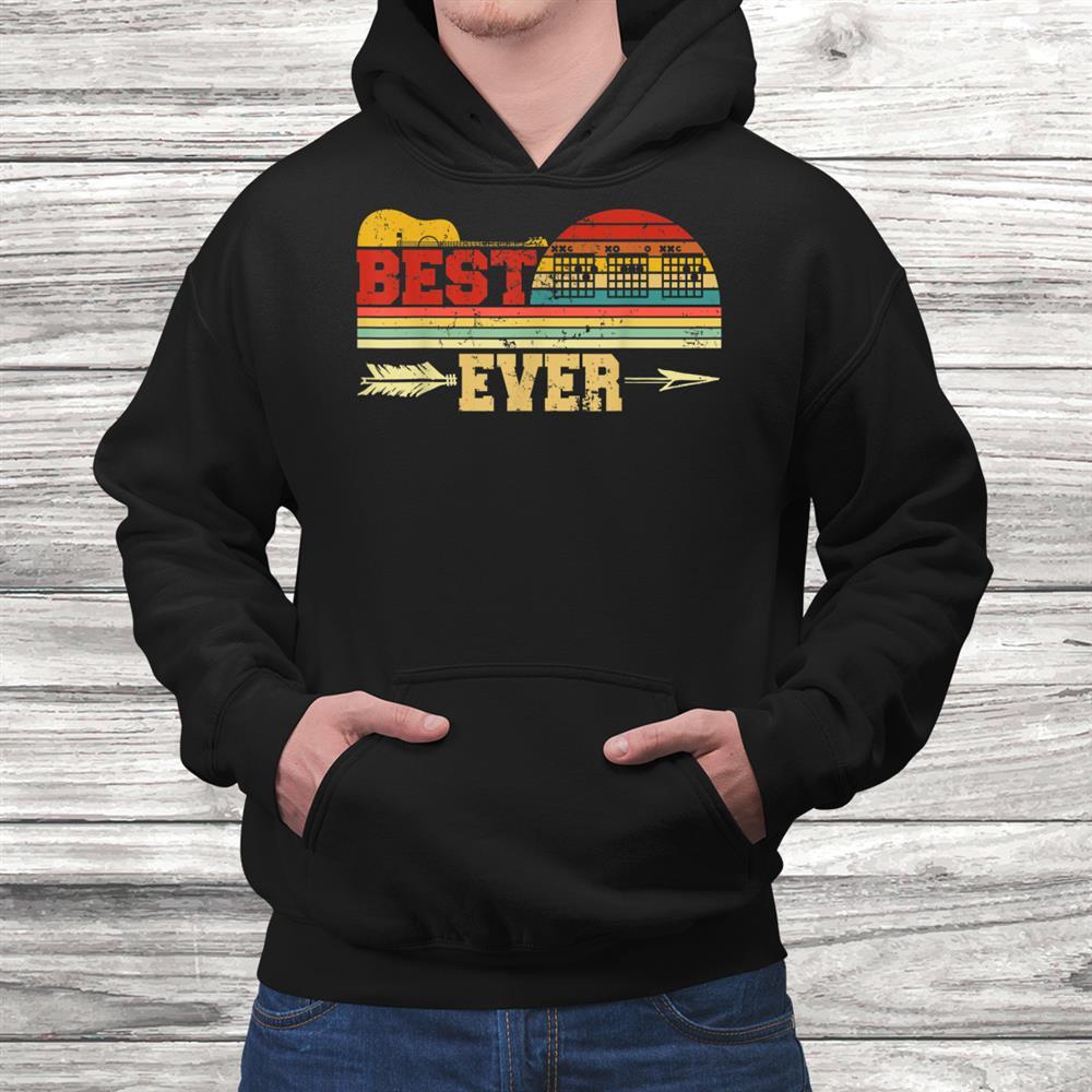 Mens Best Guitar Dad Ever Guitarist Guitar Lover Chord Shirt