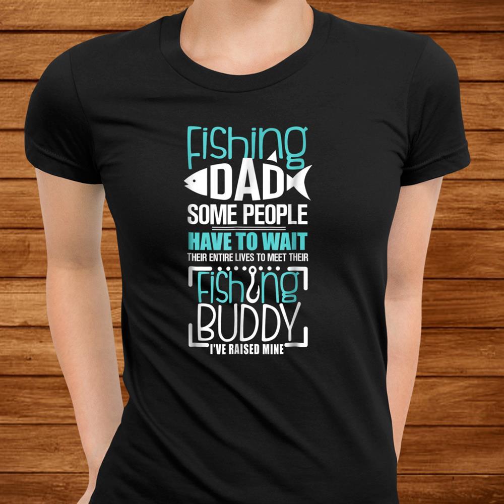 Mens Fishing Dad Funny Father Kid Matching Shirt
