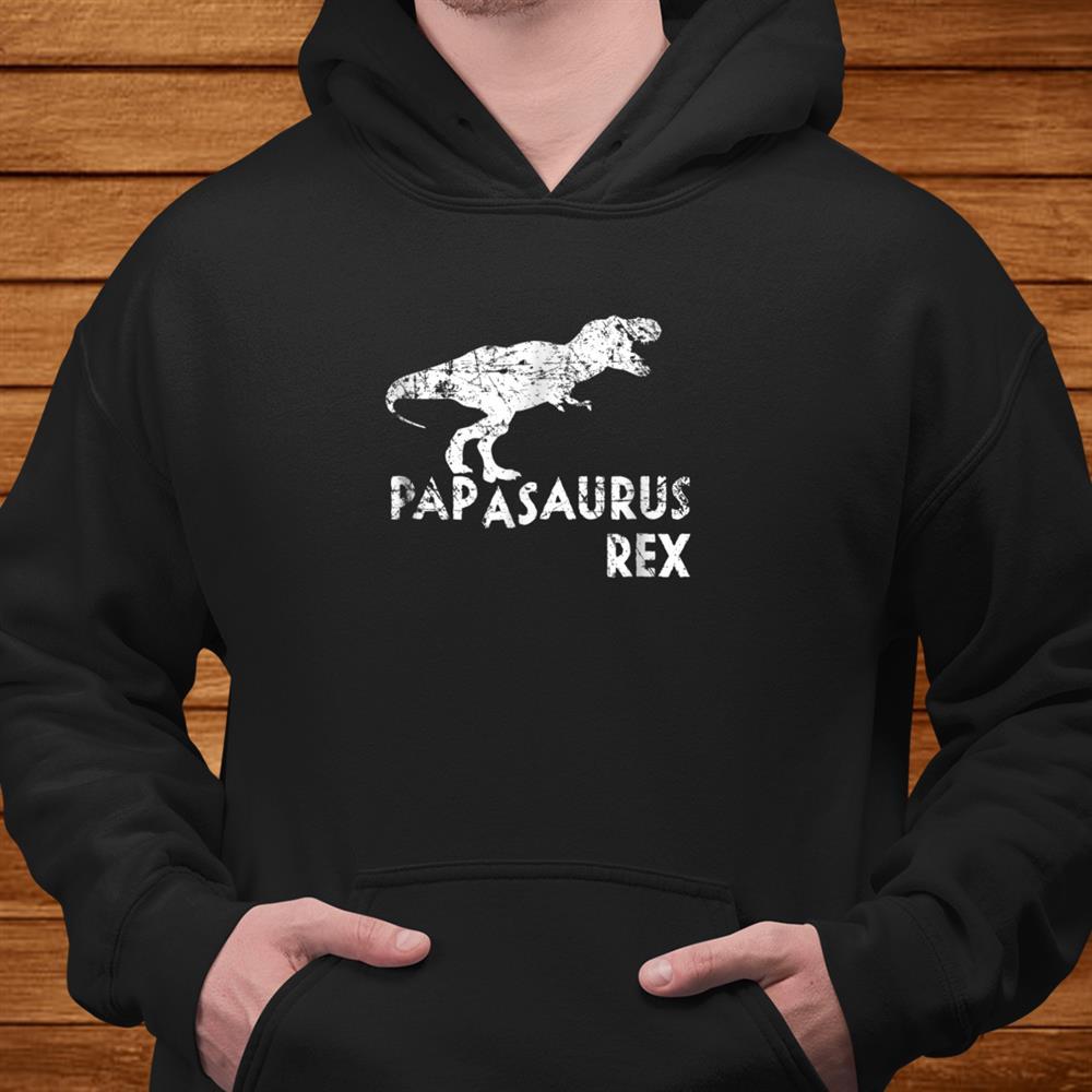 Mens Papasaurus Rex Shirt Funny Cute Dinosaur Shirt