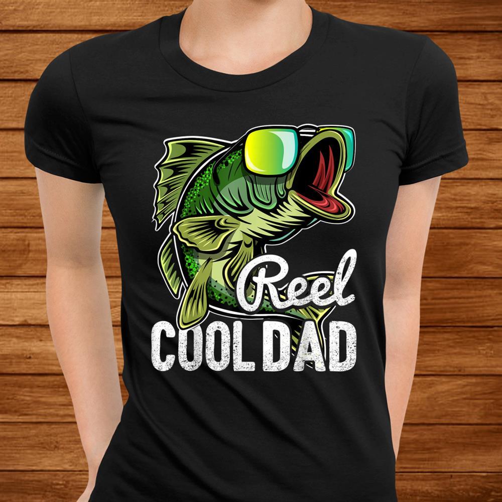 Mens Reel Cool Dad Fishing Sunglasses Shirt