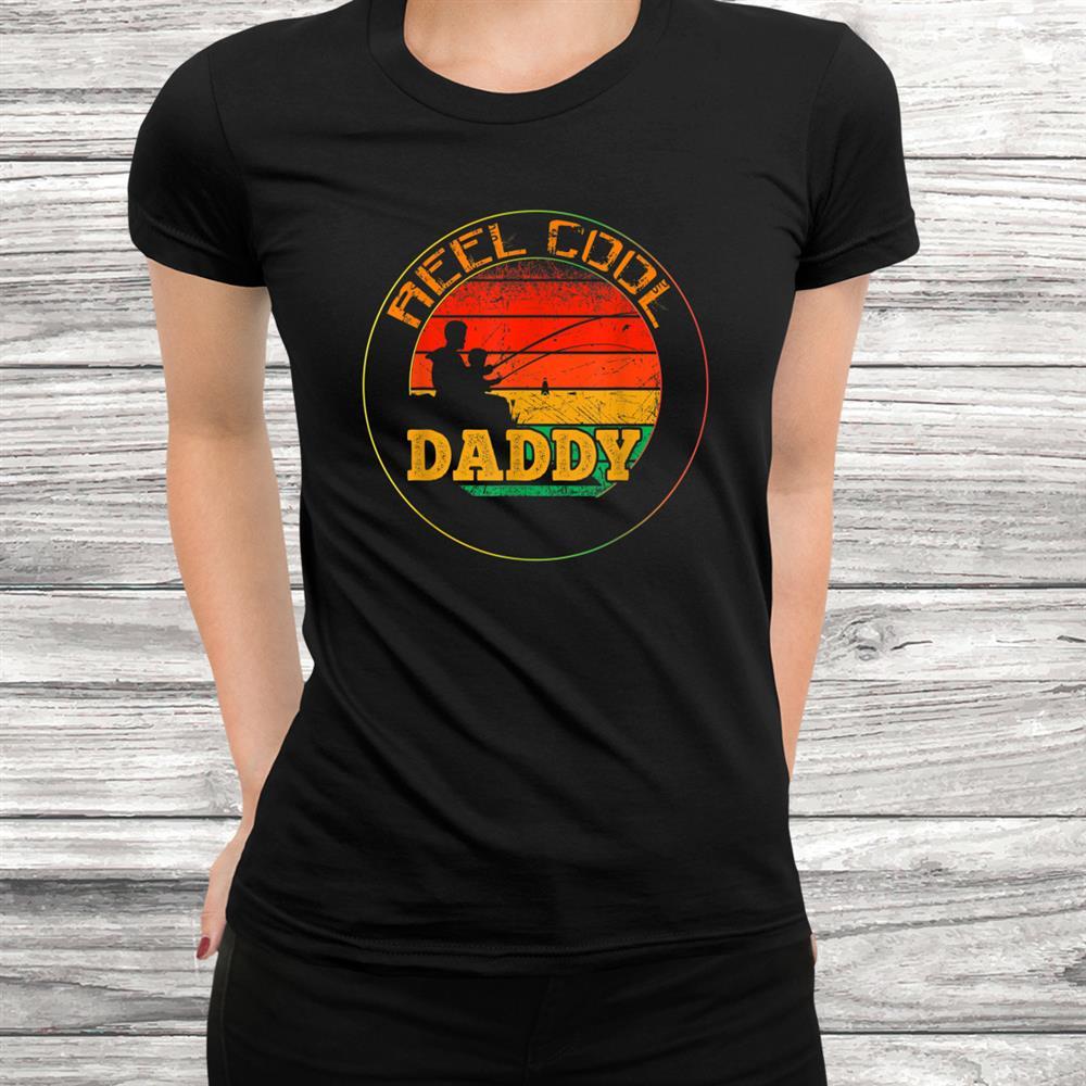 Mens Reel Cool Daddy Fishing Funny Shirt