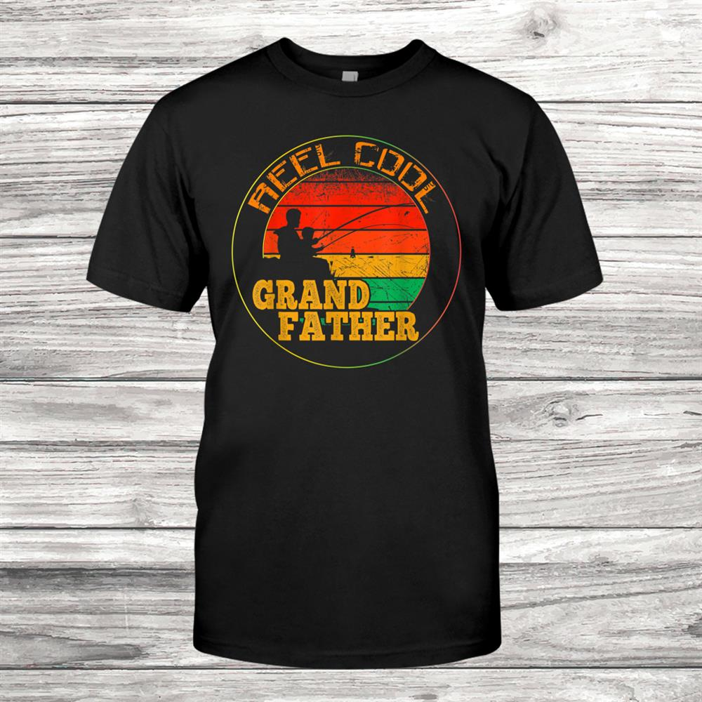 Mens Reel Cool Grand Father Fishing Funny Shirt