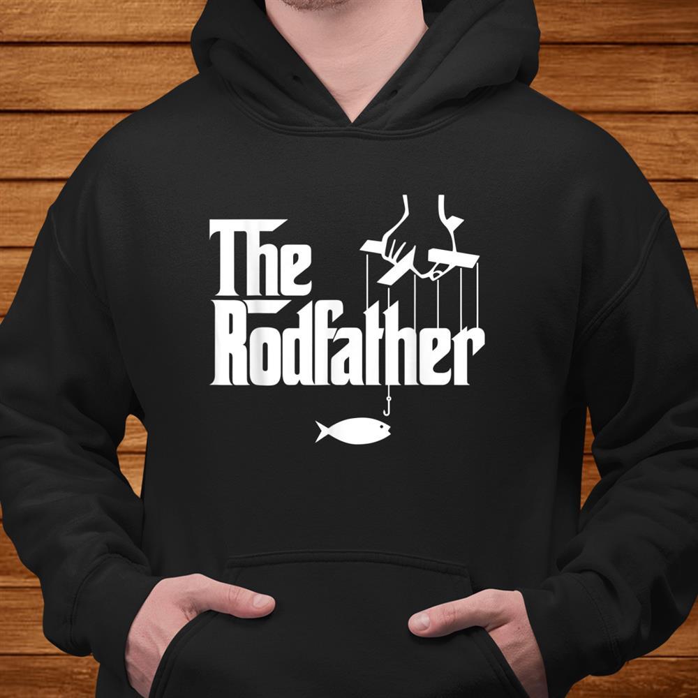 Mens The Rodfather Funny Fishing Parody Shirt