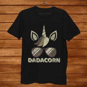 Mens Vintage Dadacorn Unicorn Dad Sunglasses Shirt For Him Men