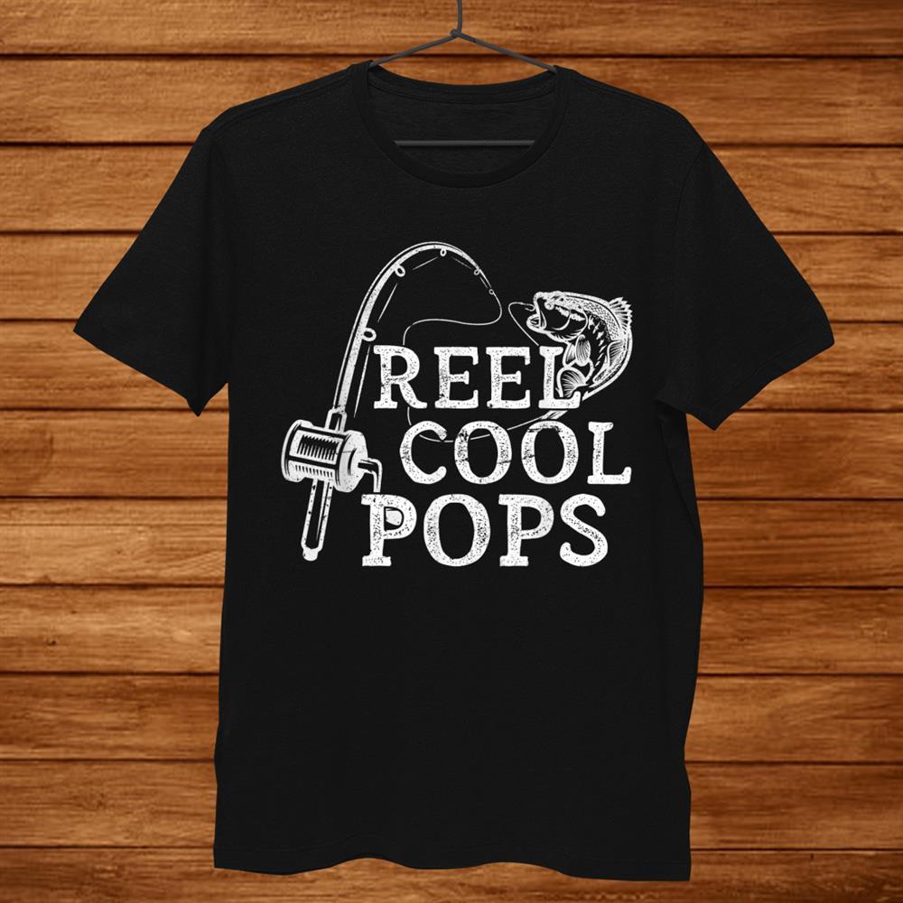 Mens Vintage Reel Cool Pops Fishing Gift For Dad Or Grandpa Shirt
