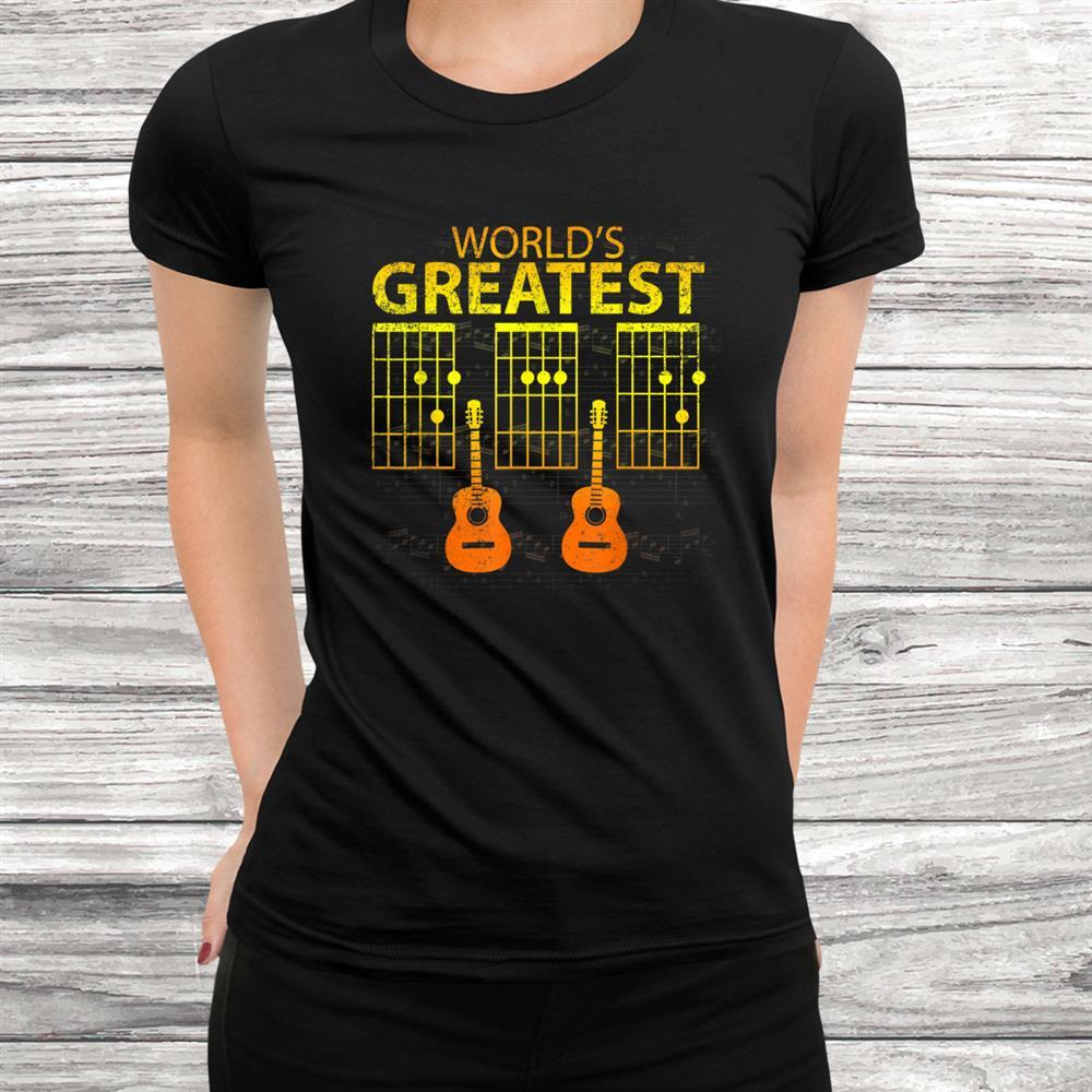 Mens Worlds Greatest Dad Guitar Chord Shirt