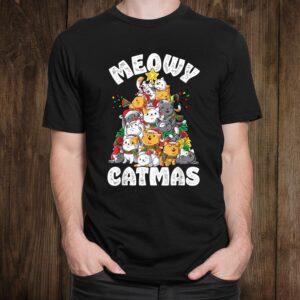 Meowy Catmas Cat Christmas Tree Christmas Shirt