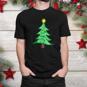 Merry Christmas Tree Typography Shirt
