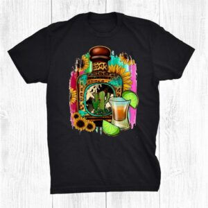 Mexican Serape Sunflowers Tequila Squad Salt Tequila And Lime Shirt