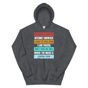 mind is like my internet browser funny geeks hoodie 3