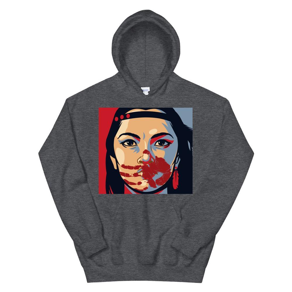 Mmiw Awareness Indigenous Woman Art Stolen Sisters Hoodie