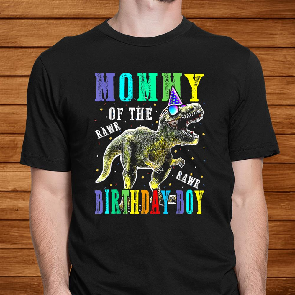 Mommy Dinosaur Shirt Funny Cute Birthday Boy Family Shirt