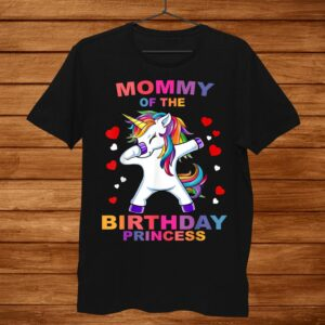 Mommy Of The Birthday Princess Unicorn Girl Shirt Outfit Shirt