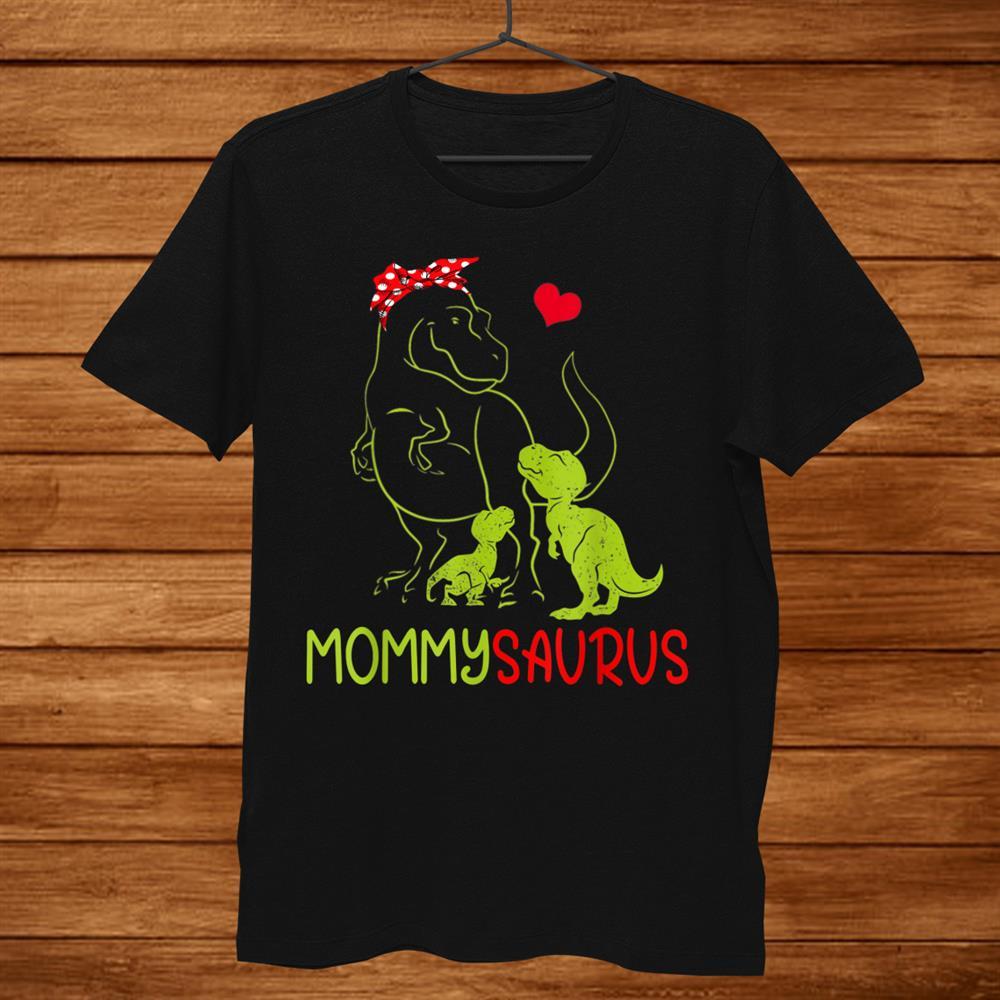 Mommysaurus T-Shirt T Rex Mommy Saurus Dinosaur Women Mom Shirt