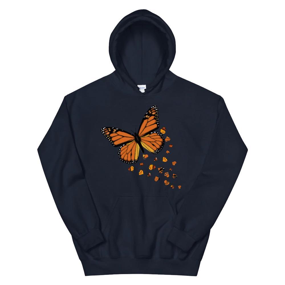 Monarch Butterfly Love Heart Hoodie