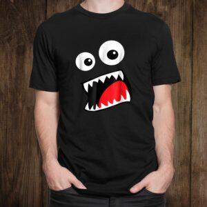 Monster Face Costume Shirt Funny Halloween Kids Adultst Shirt