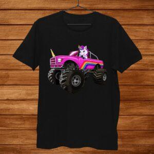 Monster Truck Unicorn Shirt Women Kids Girl Party Shirt