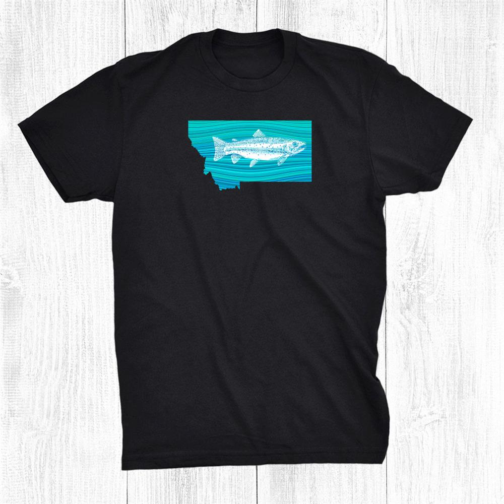 Montana Wave Trout Fishing Shirt