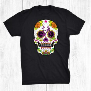 Mtb Dia De Los Muertos Sugar Skull For Bikers Halloween Shirt