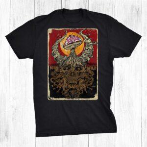 Mushroom Skull Halloween Party Vintage Shirt