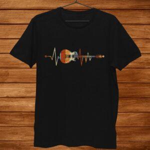Music Guitarist Heartbeat Guitar Shirt
