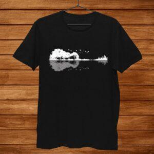 Nature Guitar Reflection Guitar Shirt