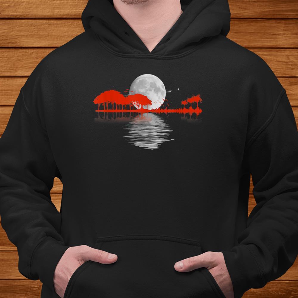 Nature Guitar Shirt. Retro Style Shirt
