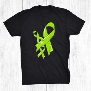 Non Hodgkin Lymphoma Awareness Ribbon Cancer Chemo Green Shirt