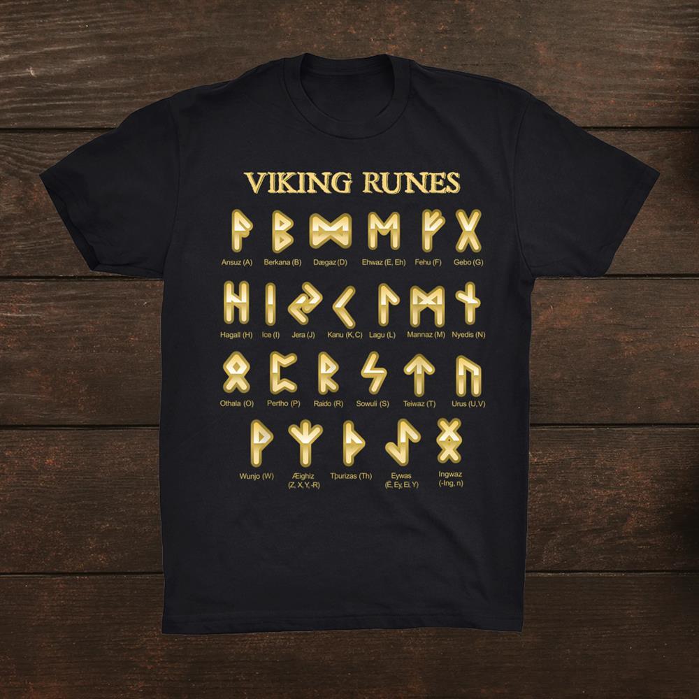 Nordic Mythology Norse Gods Runic Alphabet Viking Runes Shirt